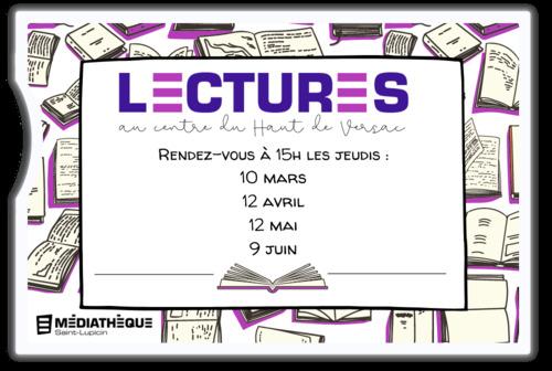 """Afficher """"Lectures au centre du Haut-de-Versac"""""""